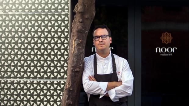 Paco Morales, en su restaurante Noor