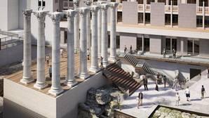 Infografía del Templo Romano tras su remodelación
