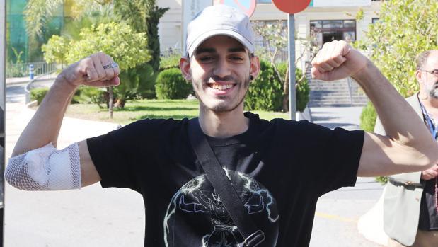 El joven malagueño Pablo Ráez, que convirtió en un fenómeno viral su lucha contra la leucemia