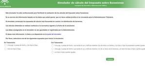 Al simulador de la Junta de Andalucía para el impuesto de sucesiones tampoco le salen las cuentas