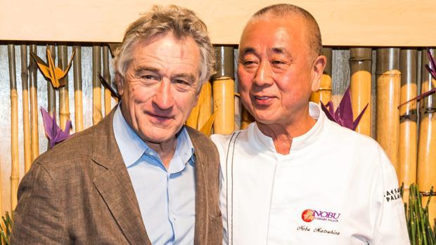 El actor norteamericano Robert de Niro, junto a su socio gastronómico Nobu Matsuhisa