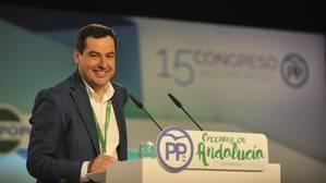 Juanma Moreno promete ganar y gobernar ante una «presidenta la fuga»