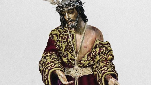 Diseño de la túnica para el Señor de la Humildad