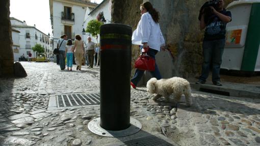 Una pilona en la zona de San Basilio