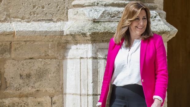La presidenta de la Junta, Susana Díaz, en el Parlamento