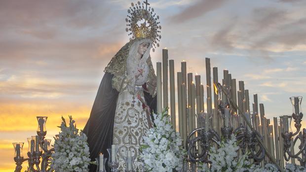 La Virgen de la O, en su procesión el pasado octubre