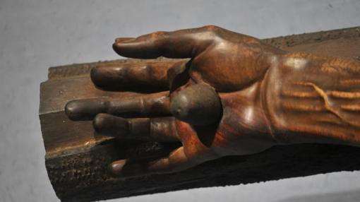 Una de las manos del Cristo