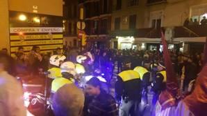 Intervención de la Policía, tras la estampida