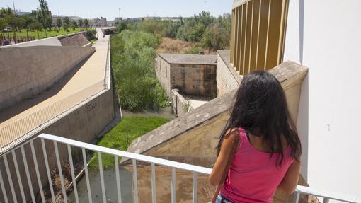 Una joven, en el Molino de Martos.