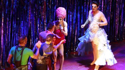 Un momento del musical durante su representación en el Fibes de Sevilla.