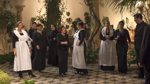 Representación teatral en el Palacio de Viana.