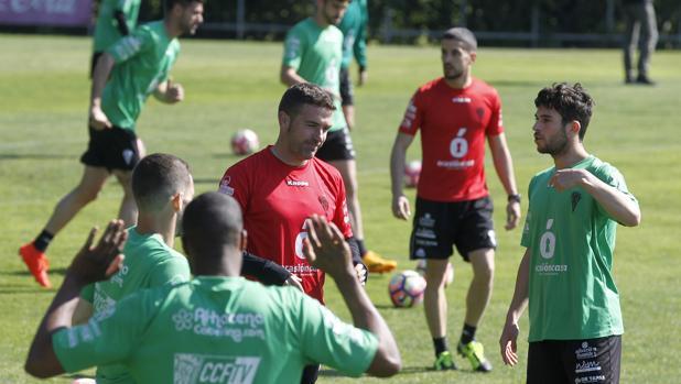 Carrión, durante un entrenamiento en la Ciudad Deportiva