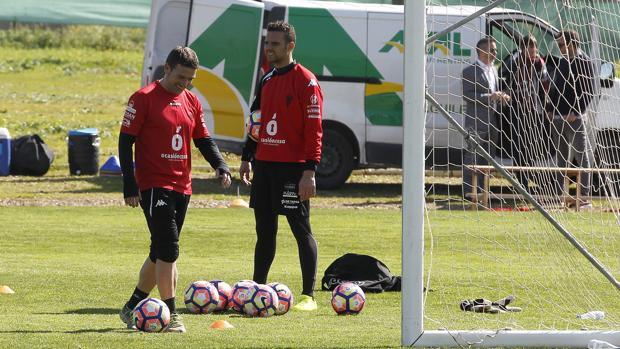 Luis Carrión durante una sesión de trabajo en la Ciudad Deportiva