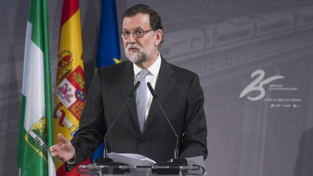 Mariano Rajoy, en el acto de conmemoración del aniversario del AVE