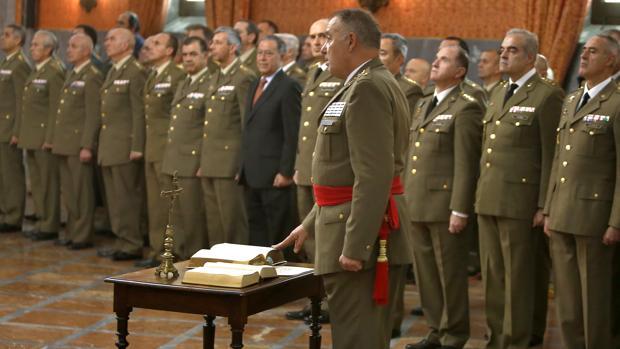 Ruiz Olmos, ayer, durante el acto de su toma de posesión