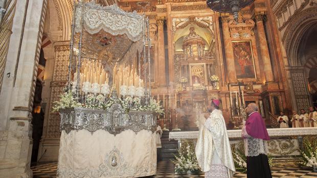 La Virgen de la Paz, en la Catedral en octubre de 2014
