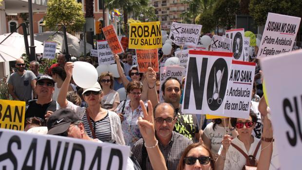 Manifestación en Huelva celebrada el 23 de abril de este año.