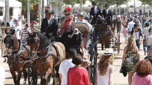 Carruajes y enganches en la Feria de Córdoba del año pasado