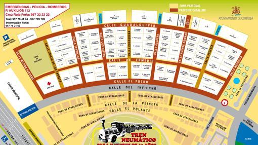 Plano de la Feria de Córdoba 2017