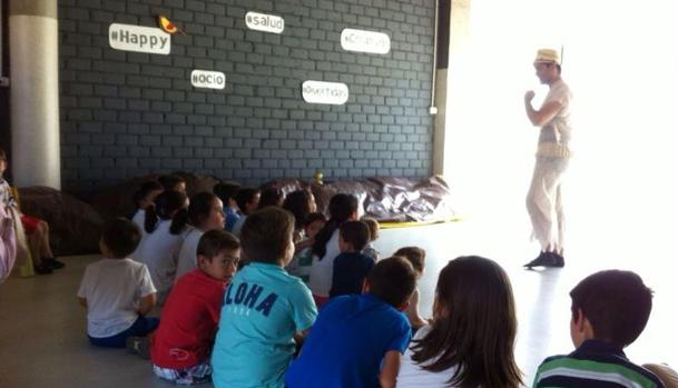 Niños en una de las actividades de Ecofamily