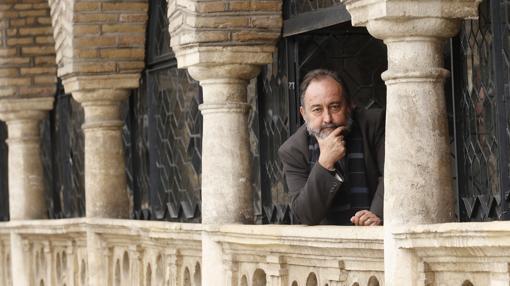 Monseñor Aguirre, durante una entrevista en el Real Círculo de la Amistad