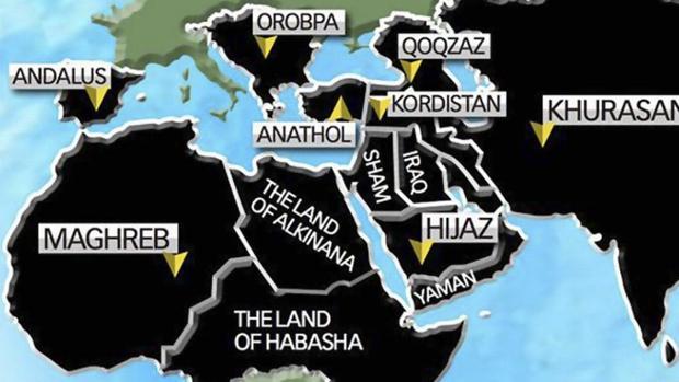 Mapa difundido por el Daesh