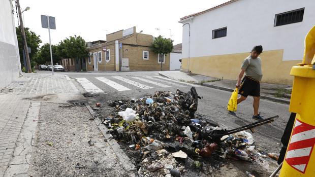 Imagen tomada en una de las calles más conflictivas de la zona