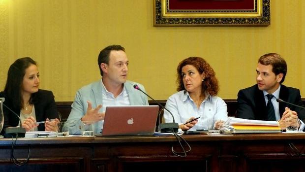 El concejal Juan Ramón Pérez Valenzuela, en el uso de la palabra