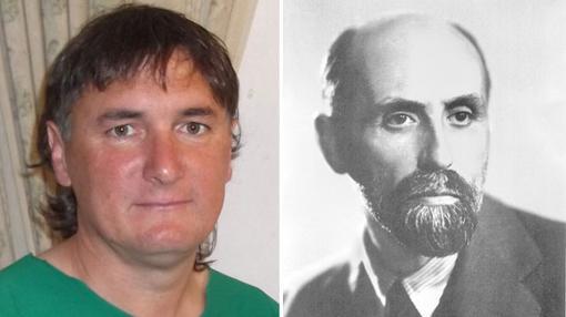 El «indíhena andalú», Juan Porras junto al Nobel de Literatura, Juan Ramón Jiménez