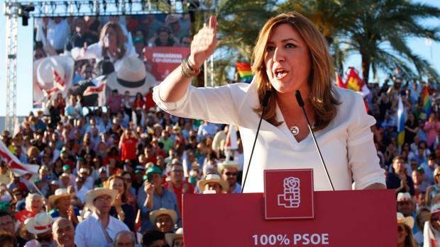 Susana Díaz durante su intervención en Sevilla