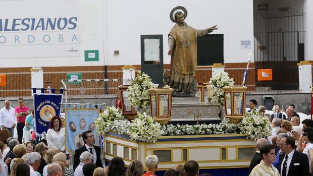 San Juan Bosco, durante su procesión