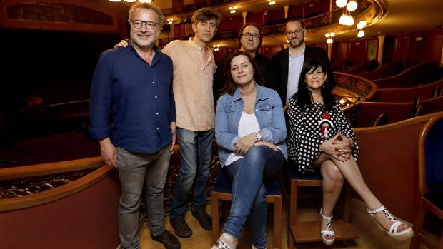 Los responsables de la producción, en el Gran Teatro
