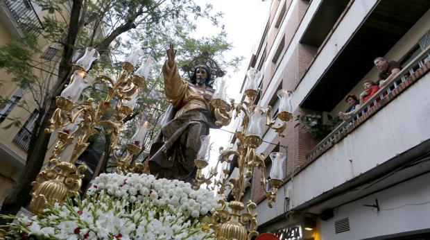 Procesión del Sagradao Corazón de San Hipólito