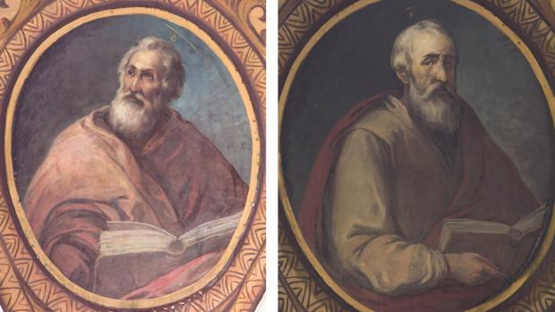 Imágenes de San Marcos y San Lucas
