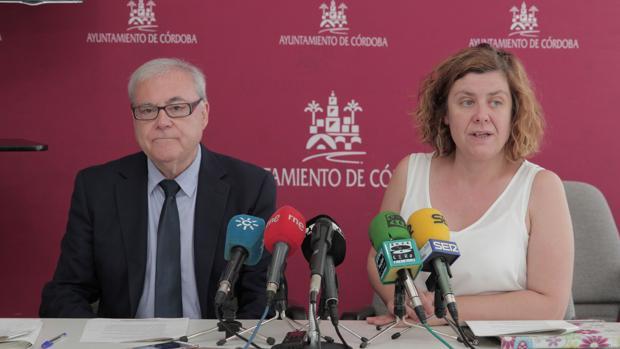 Emilio Aumente y Alba Doblas, tras la renunión