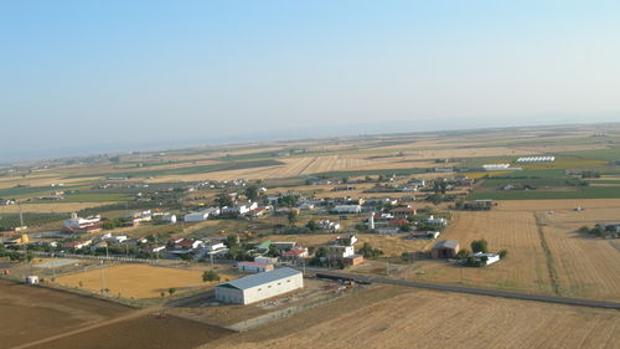 Vista aérea del paraje de El Villar