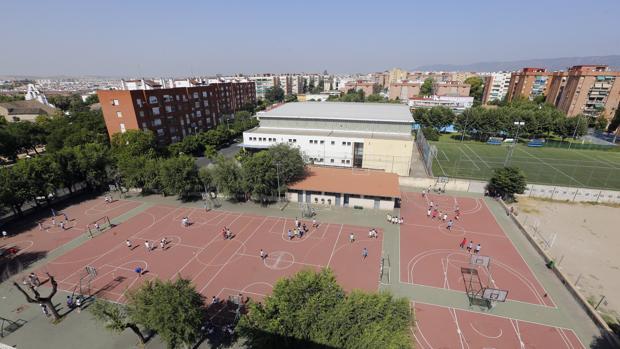 Vista aérea del centro educativo