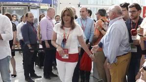 La presidenta de la Junta este sábado durante su entrada en el Congreso Federal del PSOE
