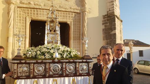Salida procesional del Corpus Christi en Baena
