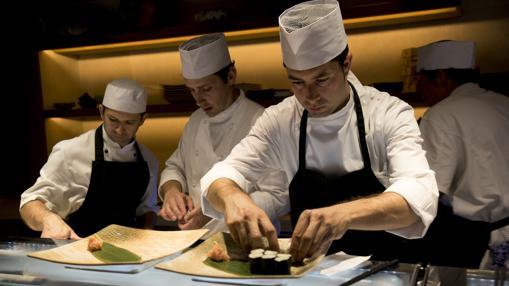 Los cocineros del Nobu de Marbella