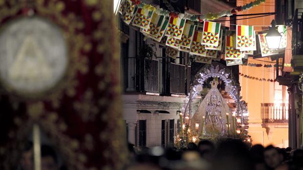 La Virgen de la Sierta, durante la Magna Mariana
