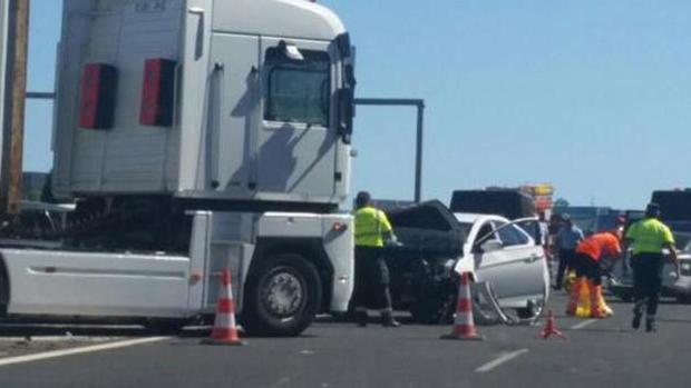 El accidente que ha tenido lugar en Málaga