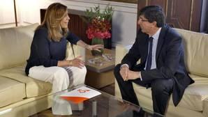 Reunión de la presidenta de la Junta, Susana Díaz, con Juan Marín, de Ciudadanos