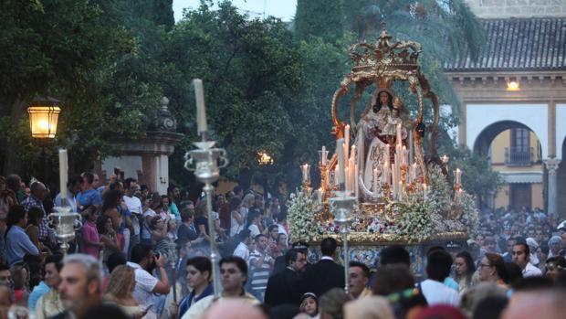 La Virgen del Socorro, en su procesión del pasado año