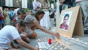 Imagen de archivo de una concentración en Córdoba en recuerdo de Miguel Ángel Blanco