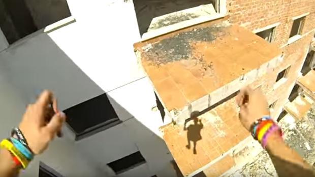 Captura del vídeo grabado con la cámara frontal de Álex Segura