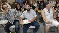 El parlamentario autonómico de Podemos David Moscoso, durante una asamblea de Ganemos en 2015