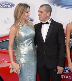 Antonio Banderas y Nicole Kemper en la gala Starlite en Marbella el verano pasado