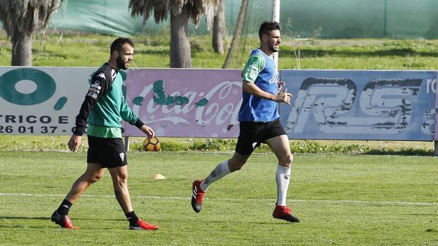 Edu Ramos y Luso Delgado durante una sesión de trabajo