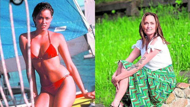 La top en una imagen de finales de los 70 y, a la derecha, en una fotografía actual